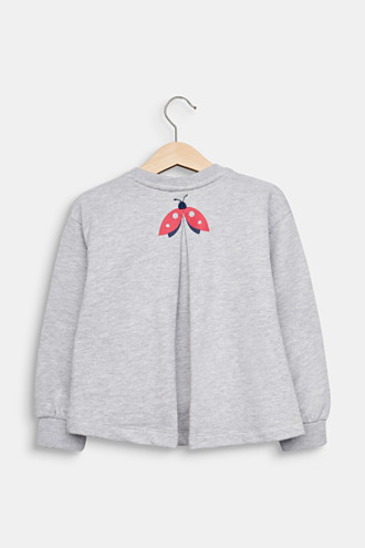 Sweatshirt with inverted pleat and print