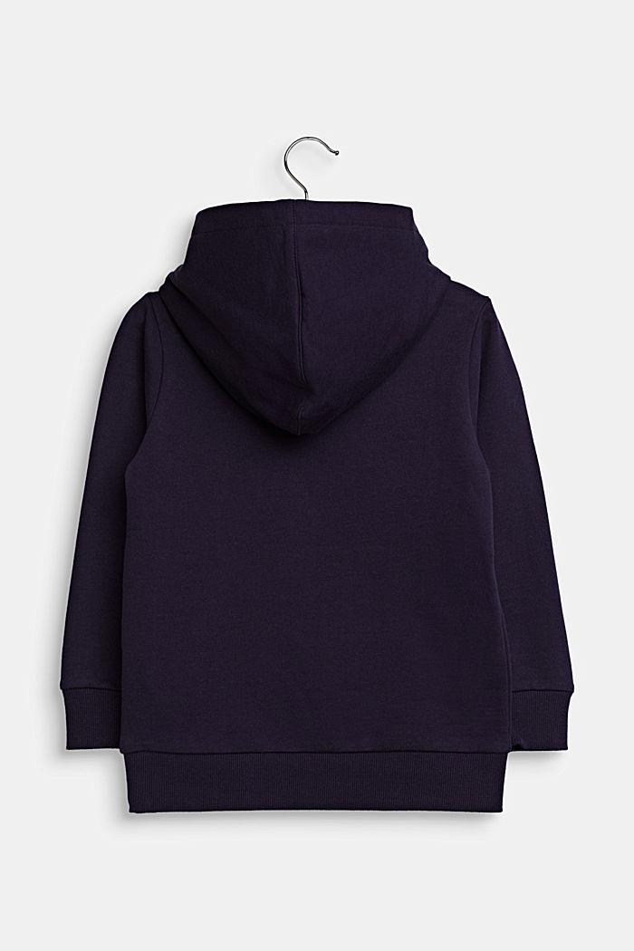 GLOW IN THE DARK hoodie, 100% cotton, NIGHT BLUE, detail image number 1