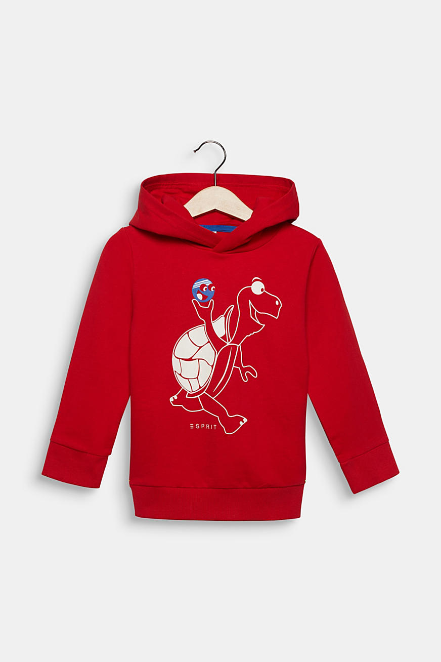 Sweatshirt hoodie with a turtle print, cotton