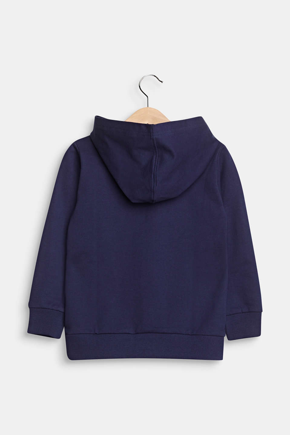 Sweatshirt hoodie with a turtle print, cotton, MIDNIGHT BLUE, detail image number 1