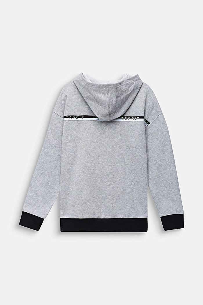 Sudadera con capucha, 100% algodón, HEATHER SILVER, detail image number 1