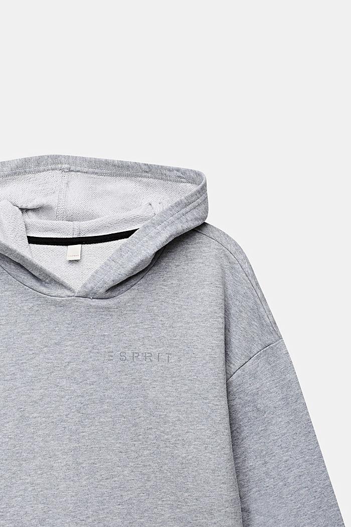 Sudadera con capucha, 100% algodón, HEATHER SILVER, detail image number 2