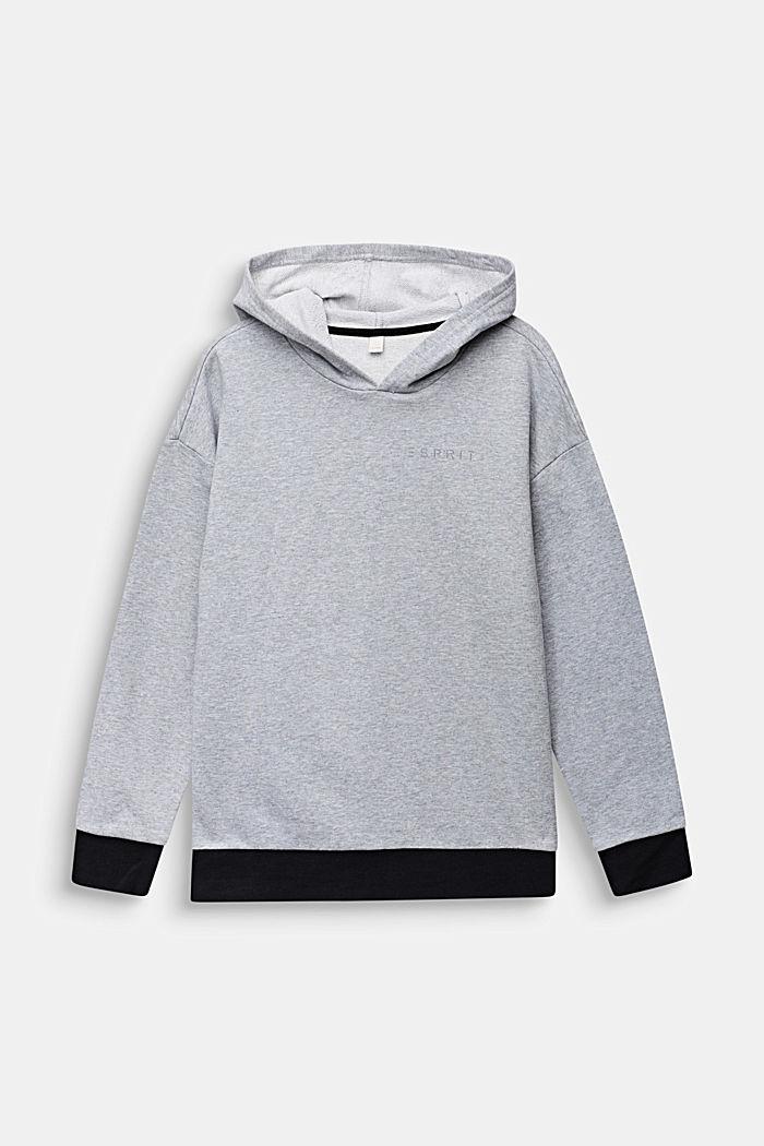 Sudadera con capucha, 100% algodón, HEATHER SILVER, detail image number 0