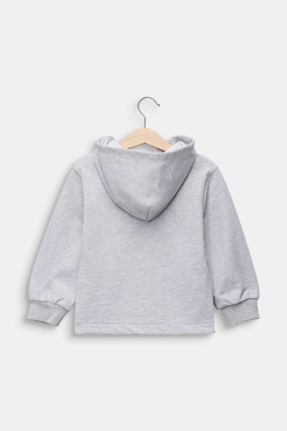 Logo sweatshirt hoodie, 100% cotton, HEATHER SILVER, detail image number 1