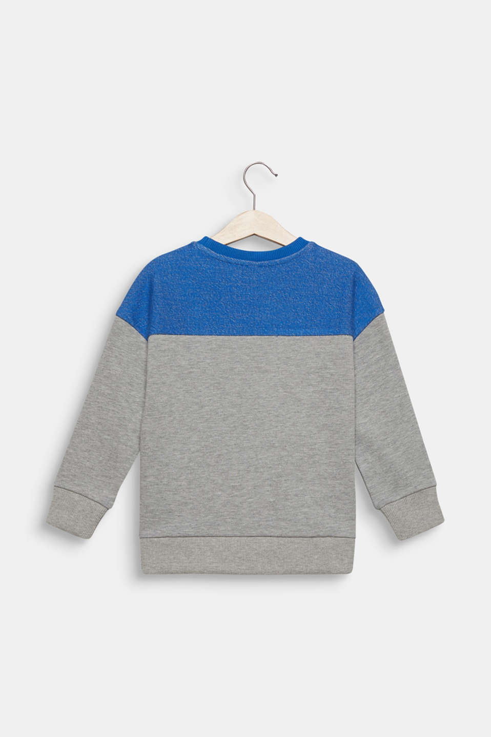 Colour block sweatshirt with a pocket, MID HEATHER GR, detail image number 1