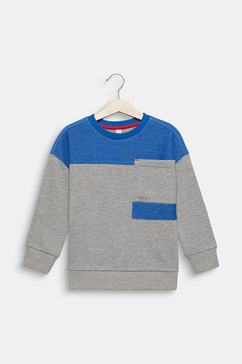 Colour block sweatshirt with a pocket