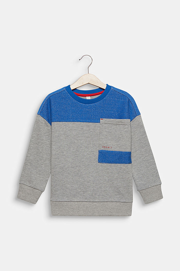 Colour block sweatshirt with a pocket, MIDNIGHT HEATHER GREY, detail image number 0