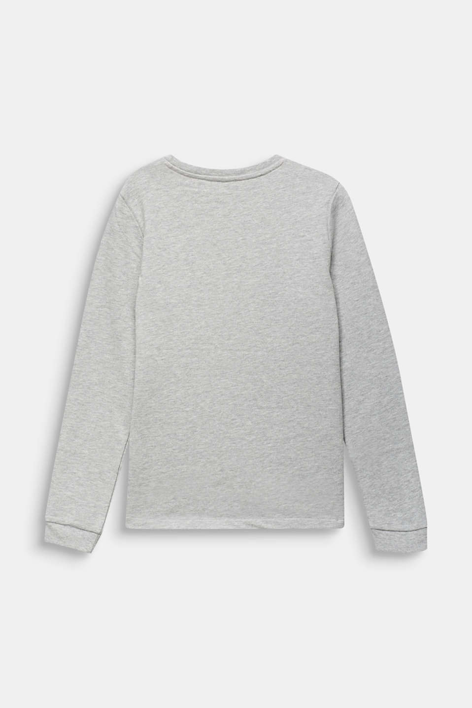 Sweatshirt with a leopard print, LCHEATHER SILVER, detail image number 1