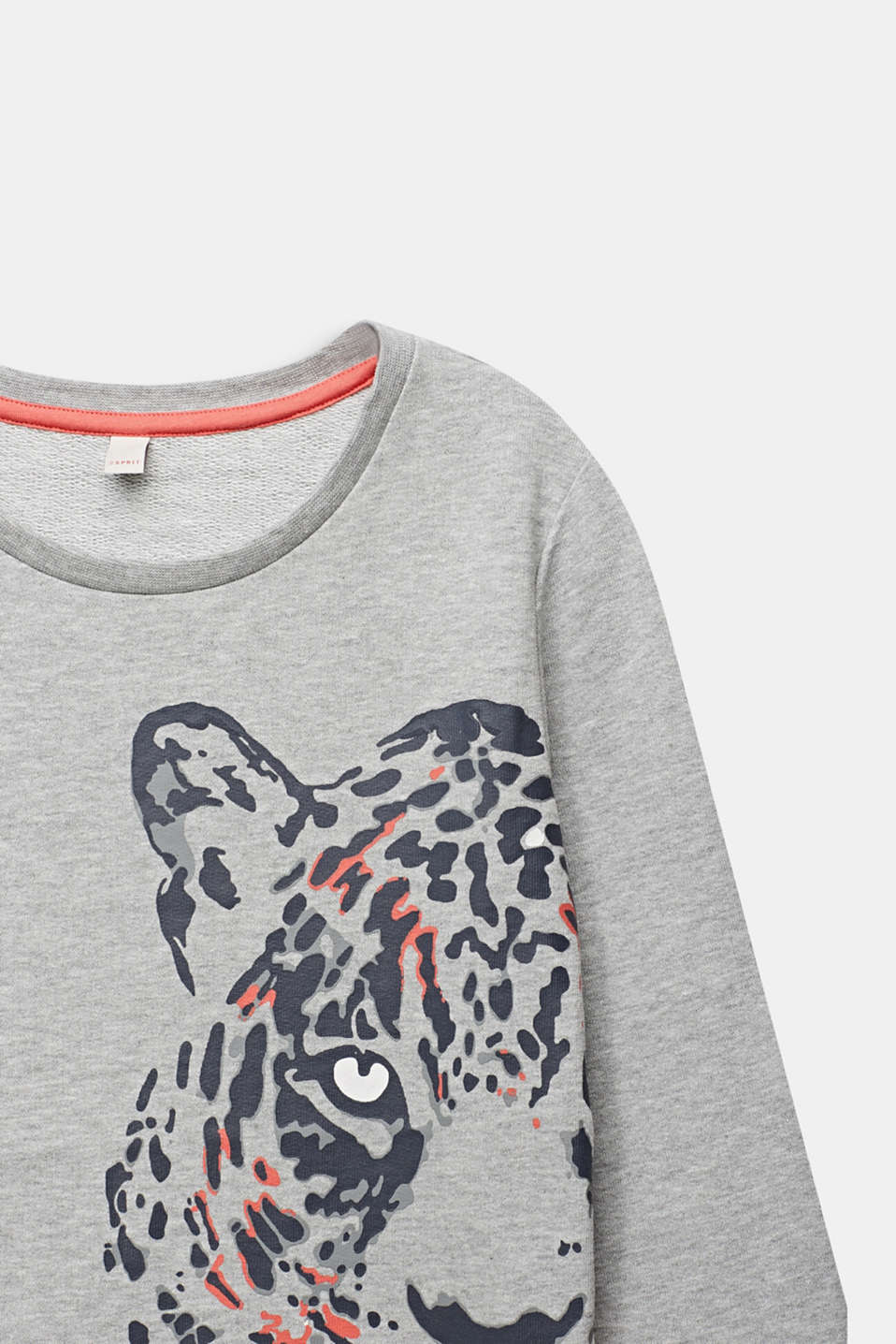 Sweatshirt with a leopard print, LCHEATHER SILVER, detail image number 2