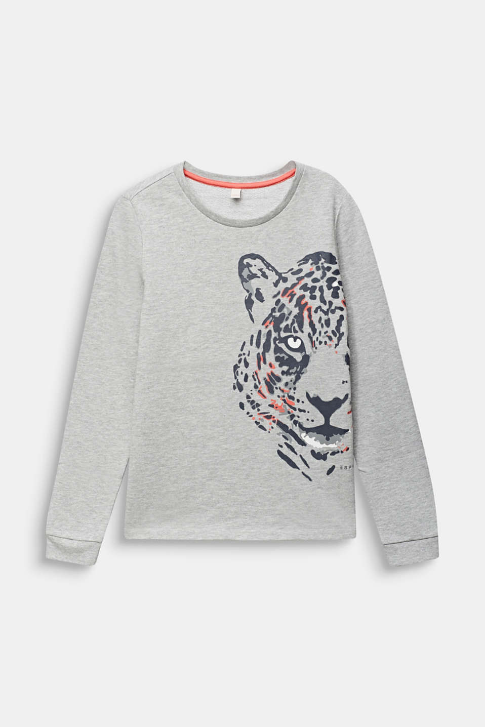 Esprit - Sweatshirt with a leopard print