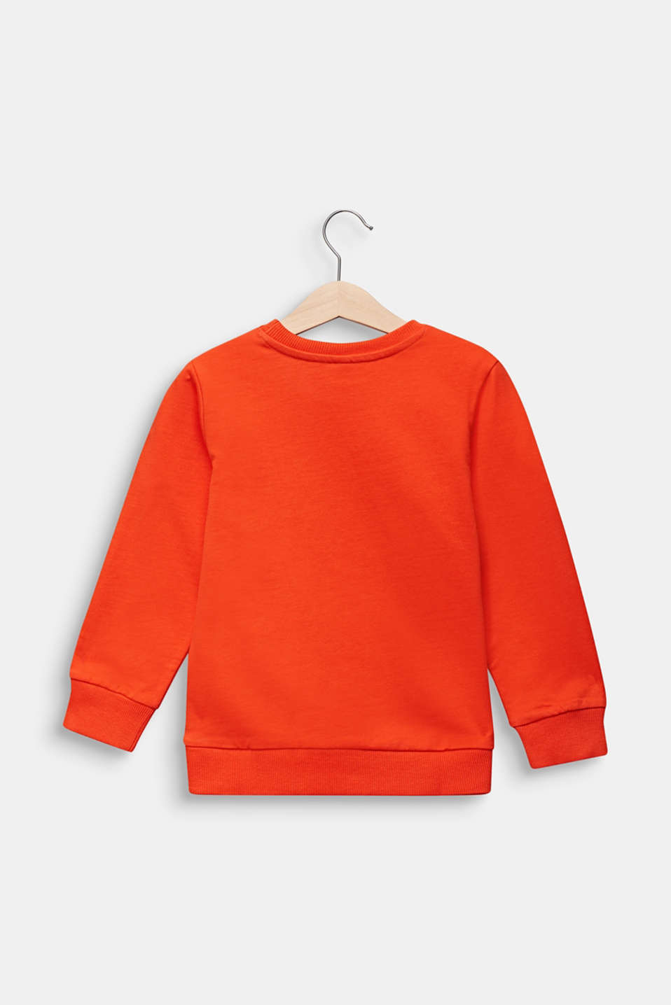 Sweatshirt with a leopard print, TANGERINE, detail image number 1