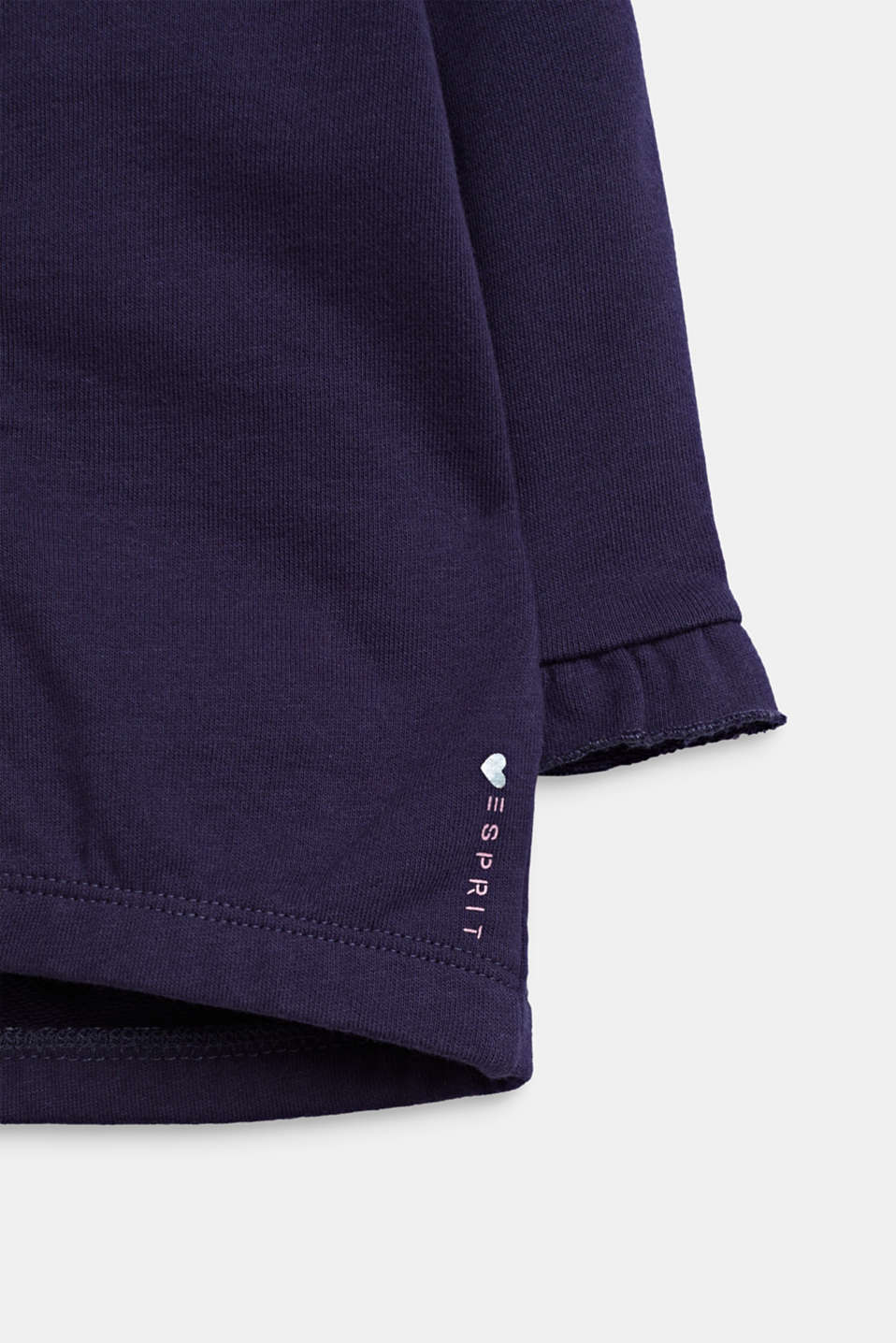 Sweatshirt cardigan with hood, 100% cotton, LCMIDNIGHT BLUE, detail image number 3
