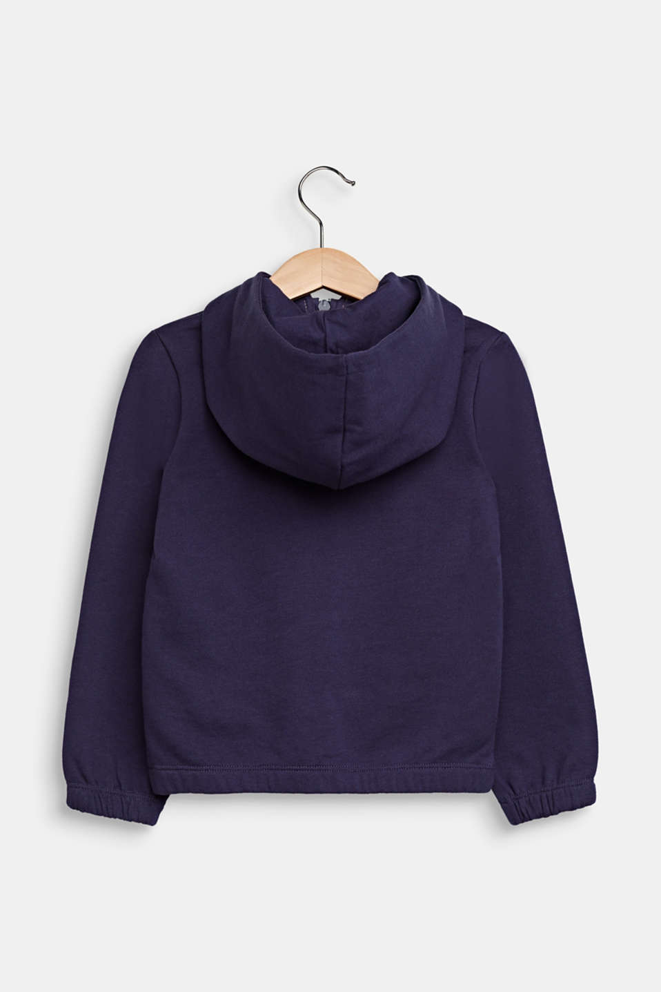 Sweatshirt fabric cardigan with a hood, MIDNIGHT BLUE, detail image number 1
