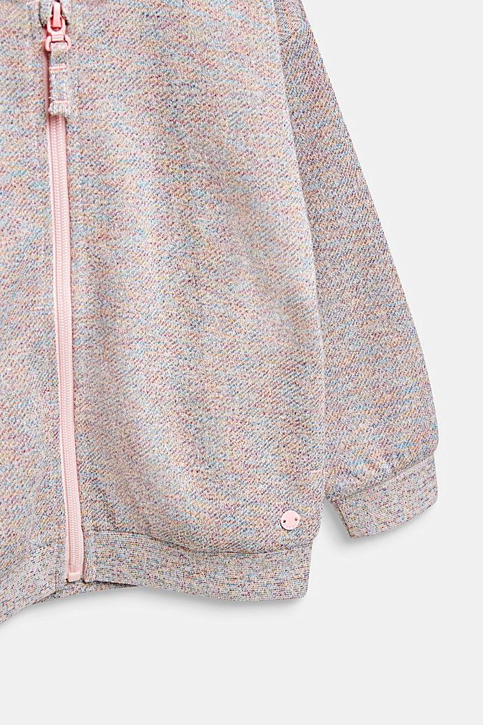 Sweatvest met een bonte glitterlook, MULTICOLOR, detail image number 2