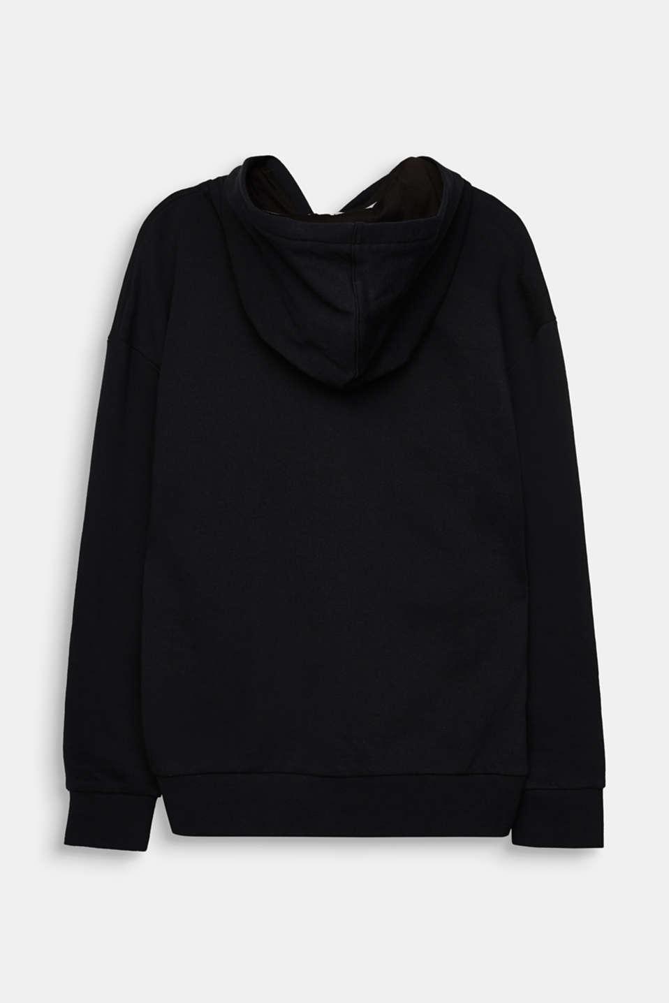 Sweatshirt cardigan with print, LCBLACK, detail image number 1