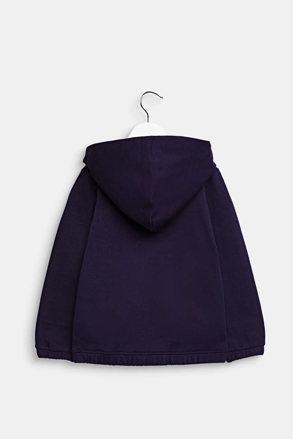 Sweatshirt cardigan in 100% cotton, NIGHT BLUE, detail image number 1