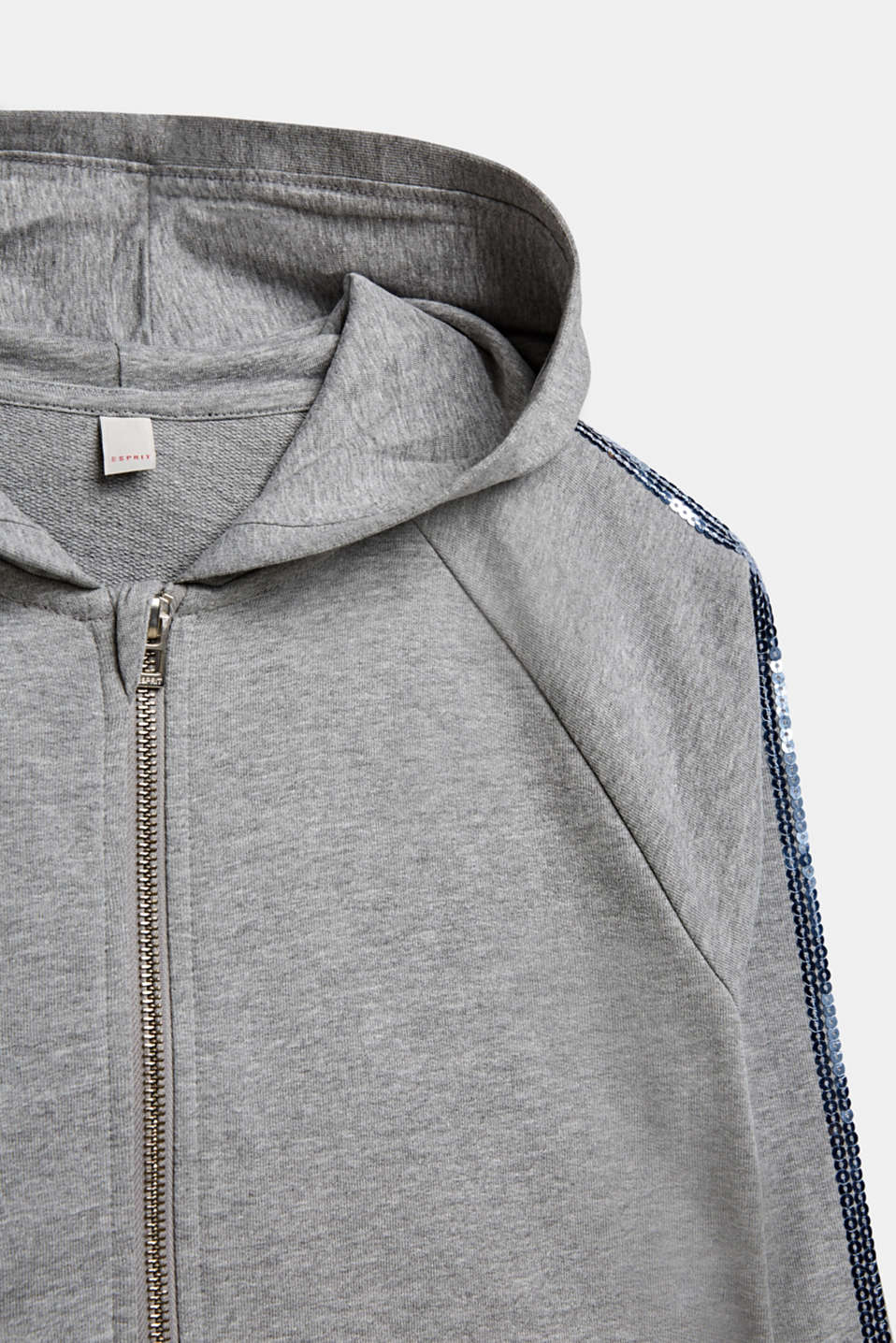 Sweatshirts cardigan, LCMID HEATHER GR, detail image number 2