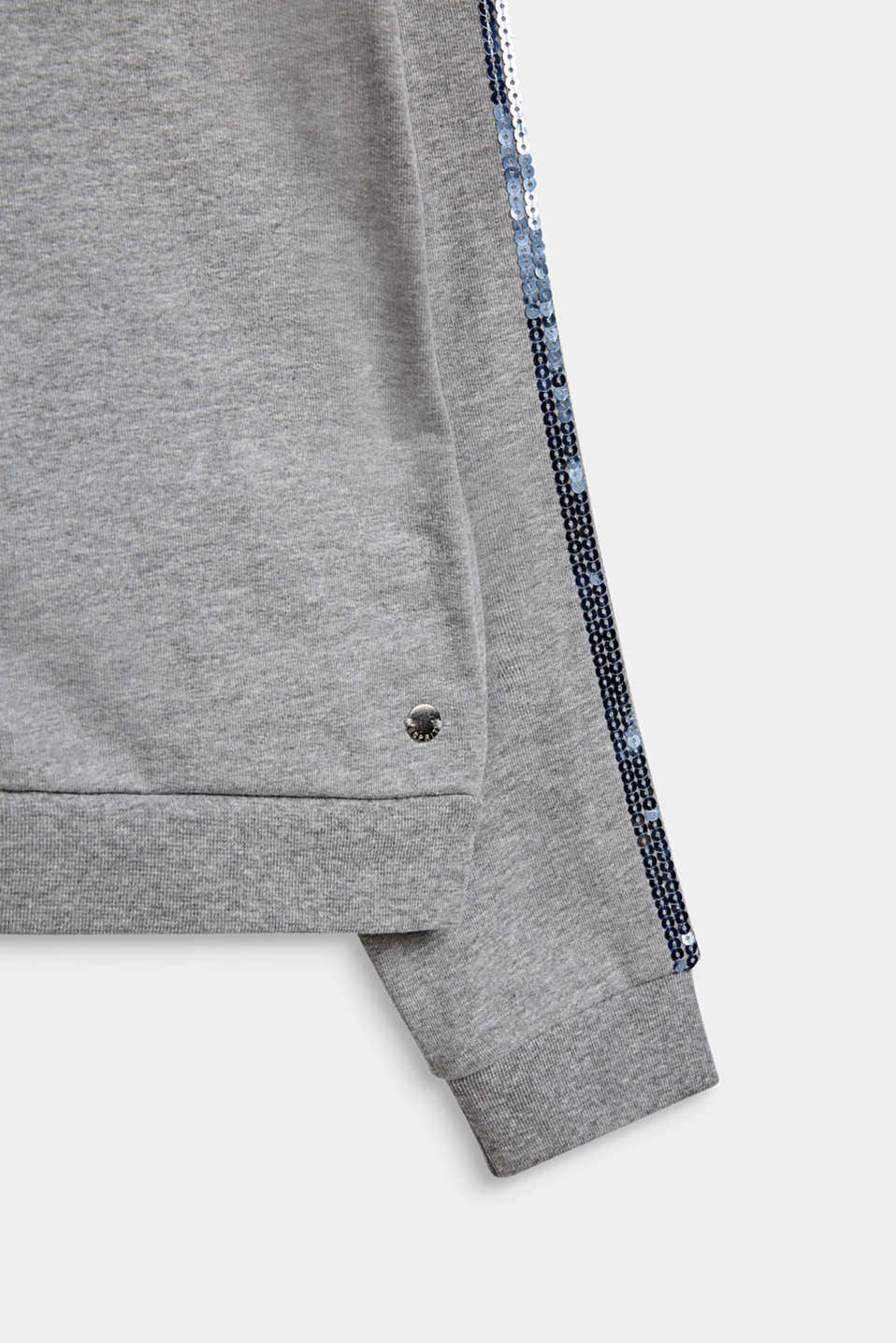 Sweatshirts cardigan, LCMID HEATHER GR, detail image number 3