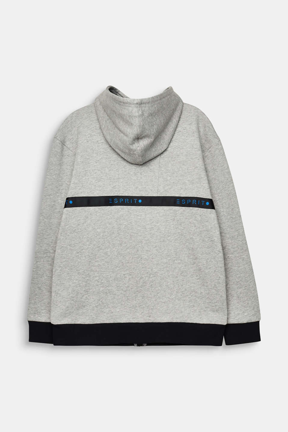 Sweatshirt cardigan with logo tape, LCMID HEATHER GR, detail image number 1