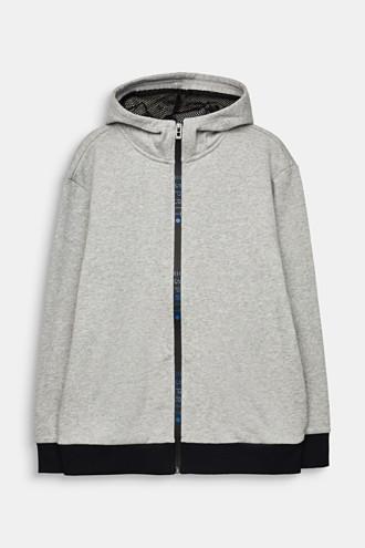 Sweatshirt cardigan with logo tape