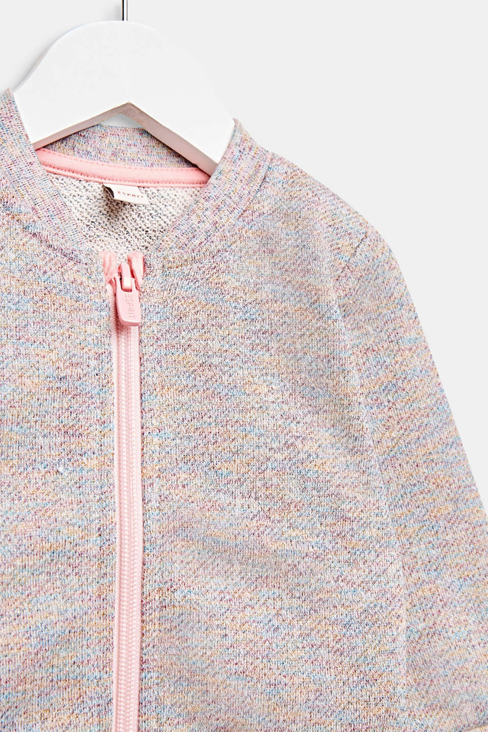 Sweatshirt cardigan with a colourful glitter look, LCMULTICOLOR, detail image number 2