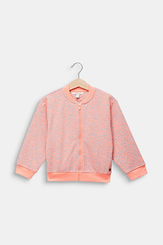 NEON sweatshirt cardigan with leopard print