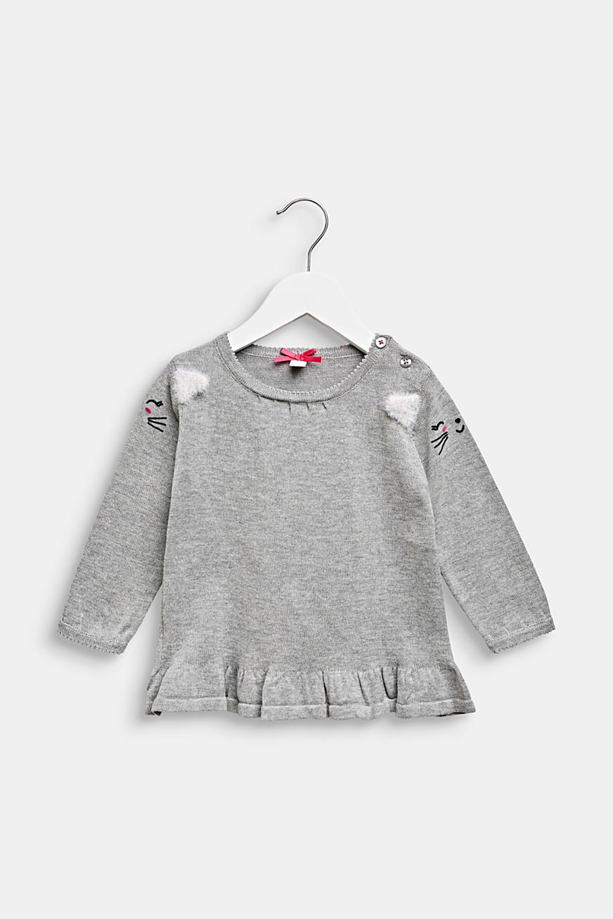 Pull-over au look chaton, 100 % coton
