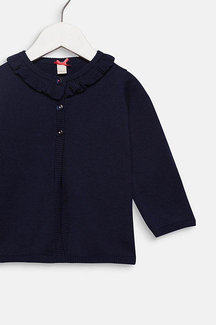 Rüschen-Cardigan mit Marienkäfern, 100% Baumwolle, MIDNIGHT BLUE, detail image number 2
