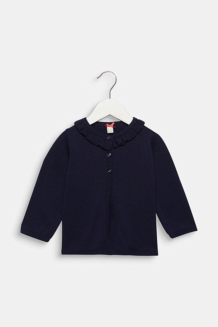Rüschen-Cardigan mit Marienkäfern, 100% Baumwolle, MIDNIGHT BLUE, detail image number 0