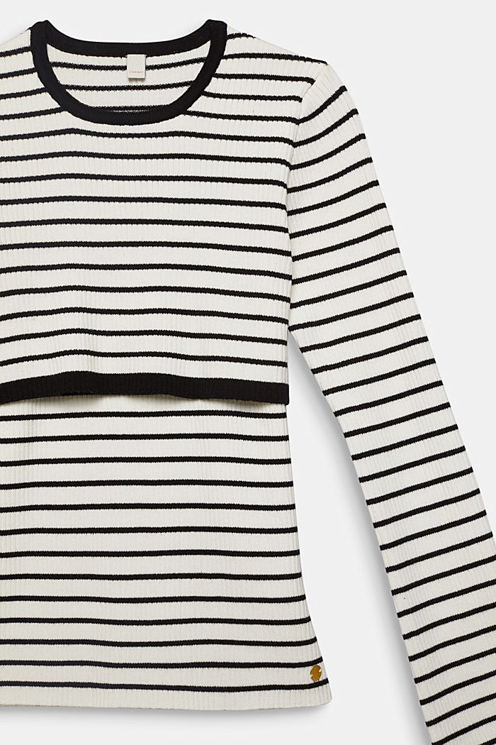 2-in-1 style ribbed jumper, WHITE, detail image number 2