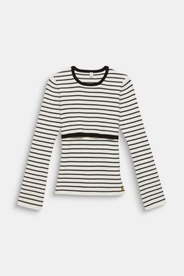 2-in-1 style ribbed jumper, LCWHITE, detail