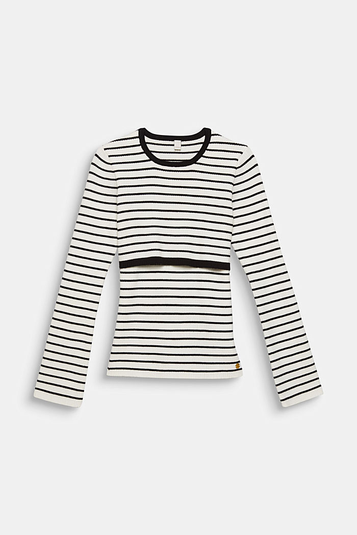 2-in-1 style ribbed jumper