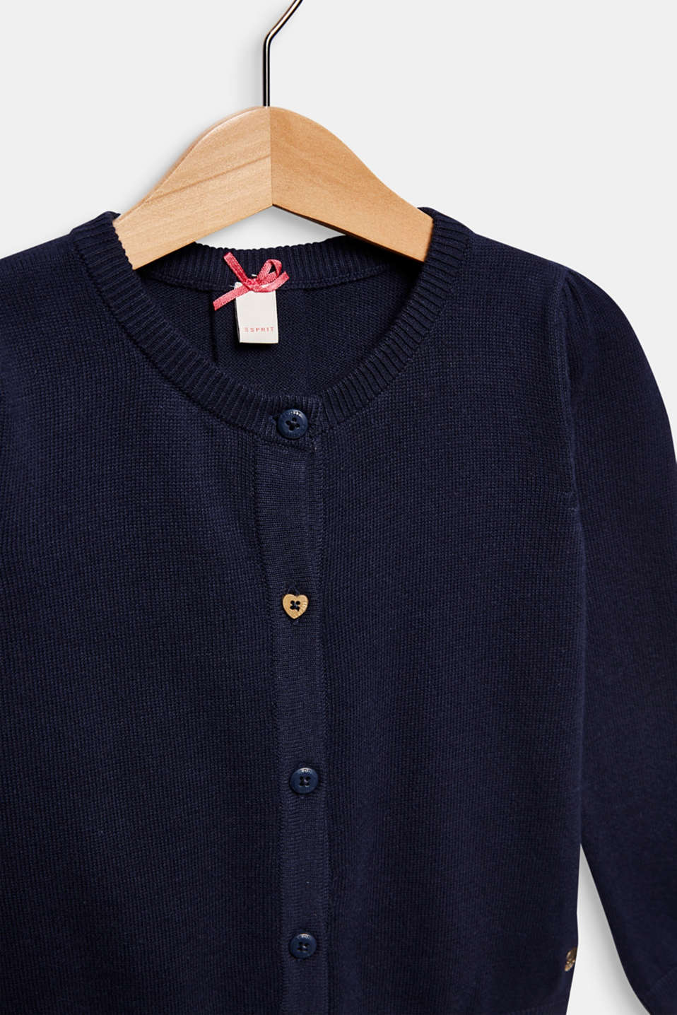 Cardigan in 100% cotton, MIDNIGHT BLUE, detail image number 2
