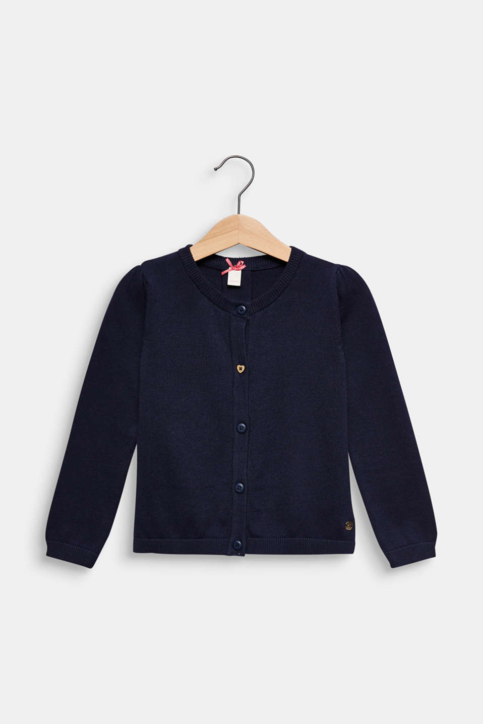 Cardigan in 100% cotton, MIDNIGHT BLUE, detail image number 0