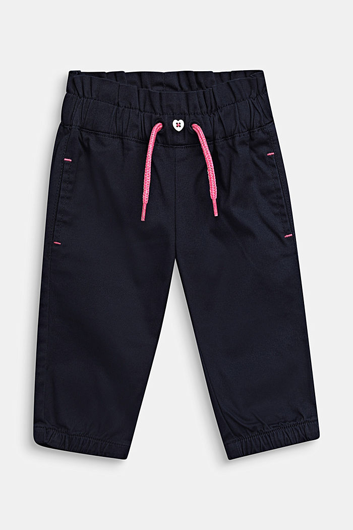 Woven trousers in a tracksuit bottom style, LCMIDNIGHT BLUE, detail image number 0