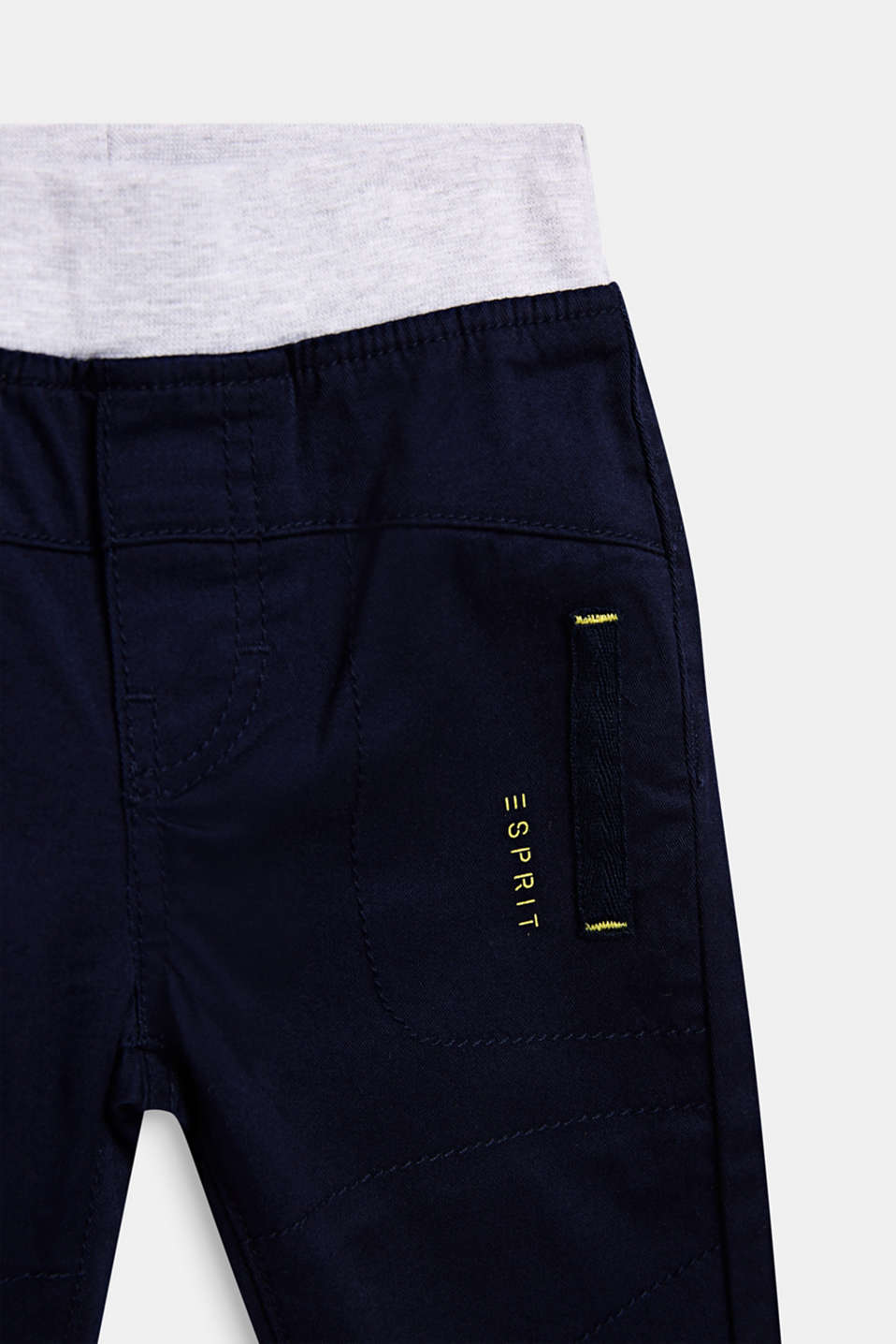 Woven trousers with an elasticated waistband, LCMIDNIGHT BLUE, detail image number 2