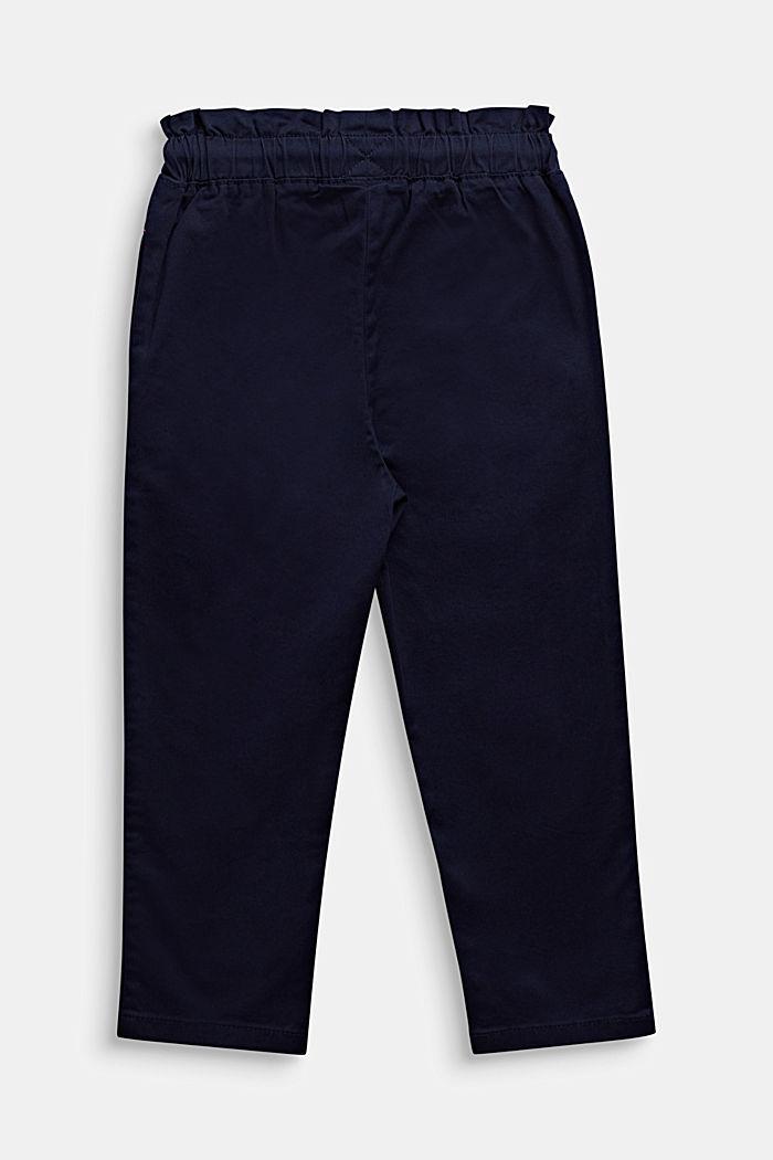Broek in jogger style van katoen-stretch, MIDNIGHT BLUE, detail image number 1