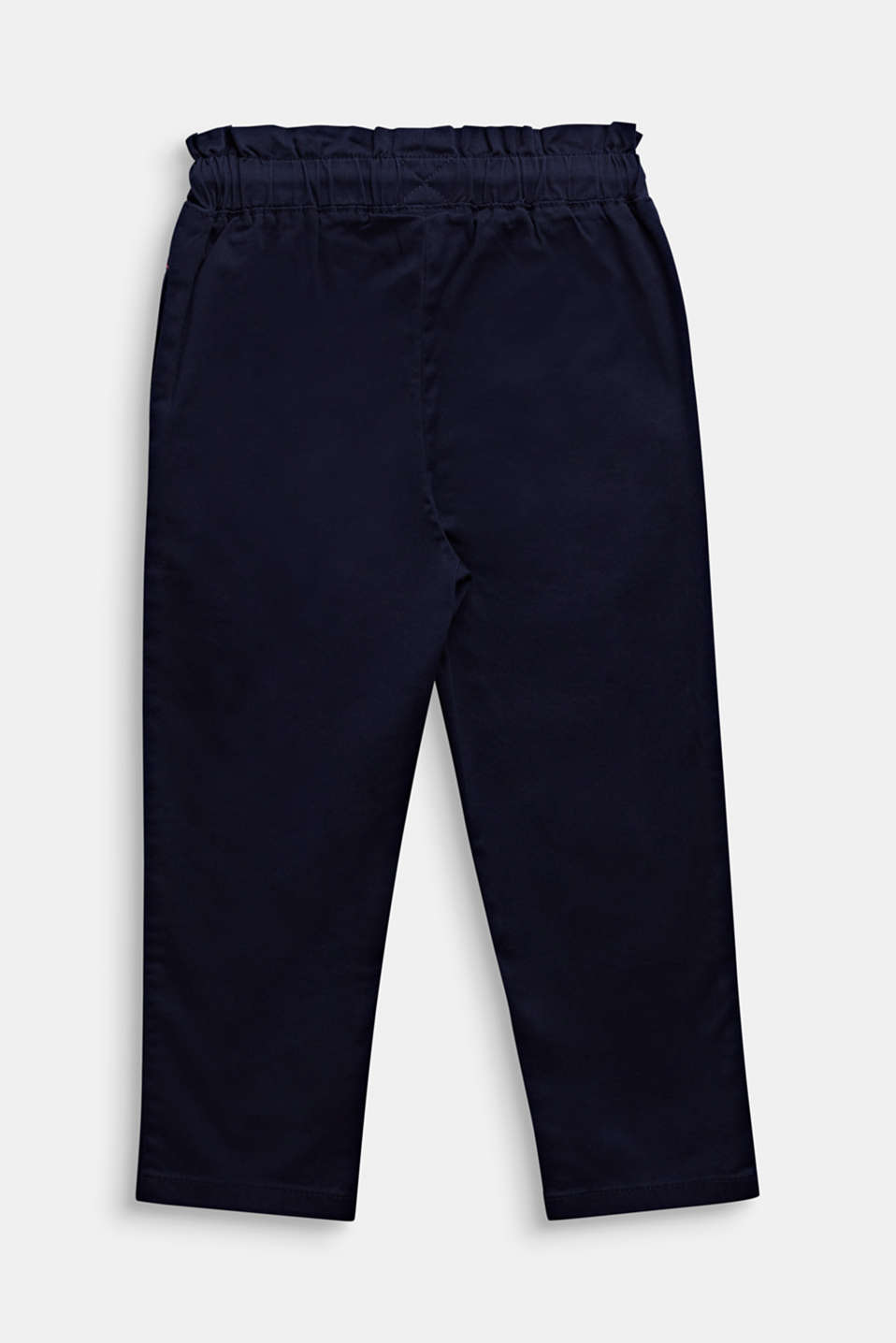 Tracksuit bottom-style trousers made of stretch cotton, MIDNIGHT BLUE, detail image number 1