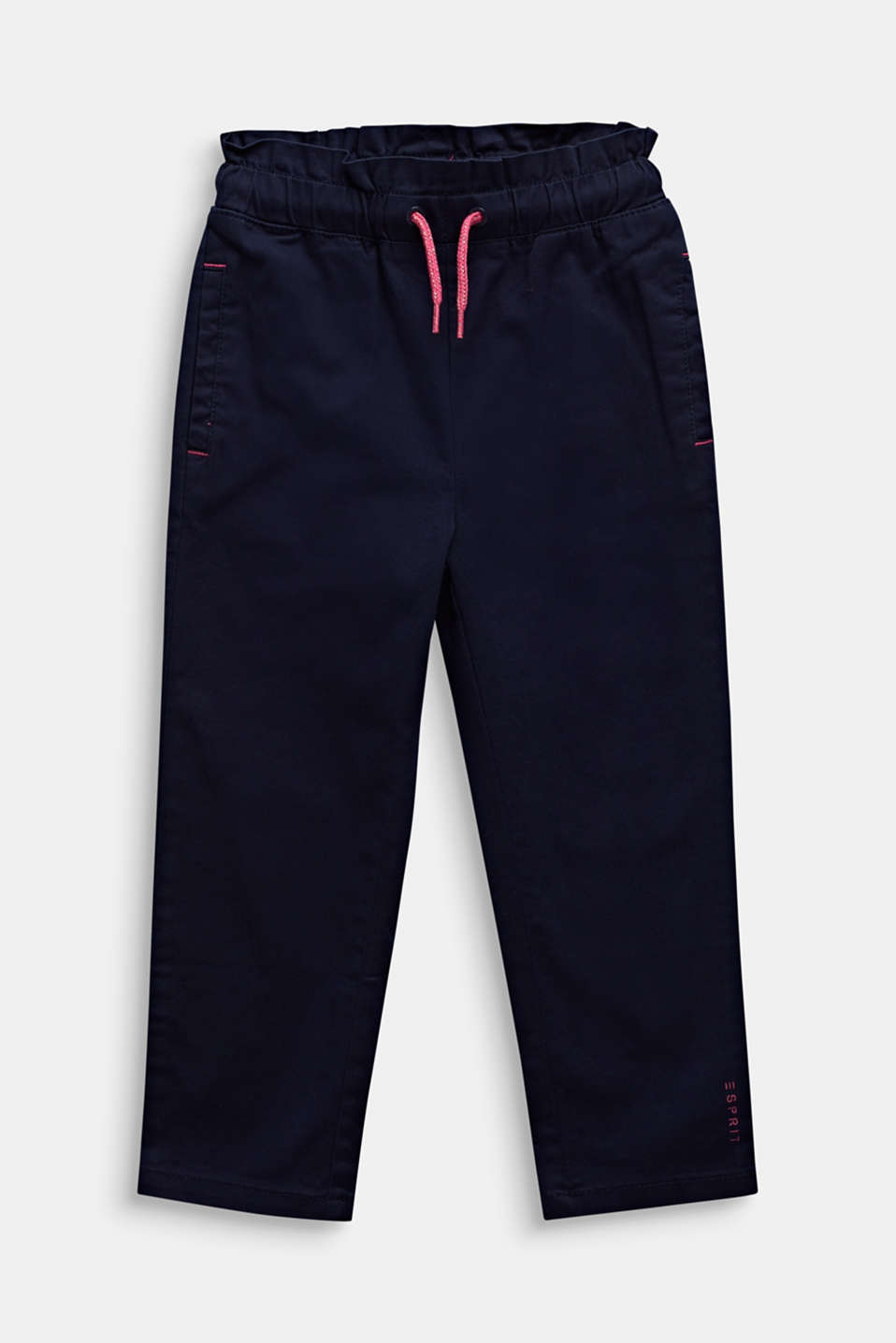 Tracksuit bottom-style trousers made of stretch cotton