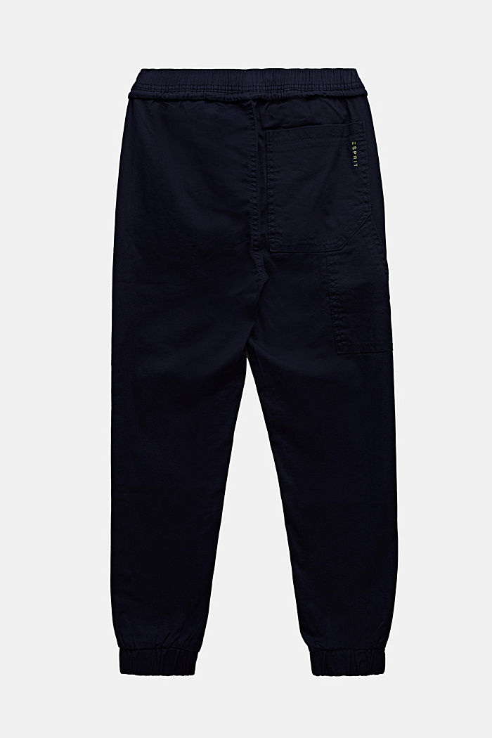Jogger-Hose aus Baumwoll-Stretch, MIDNIGHT BLUE, detail image number 1