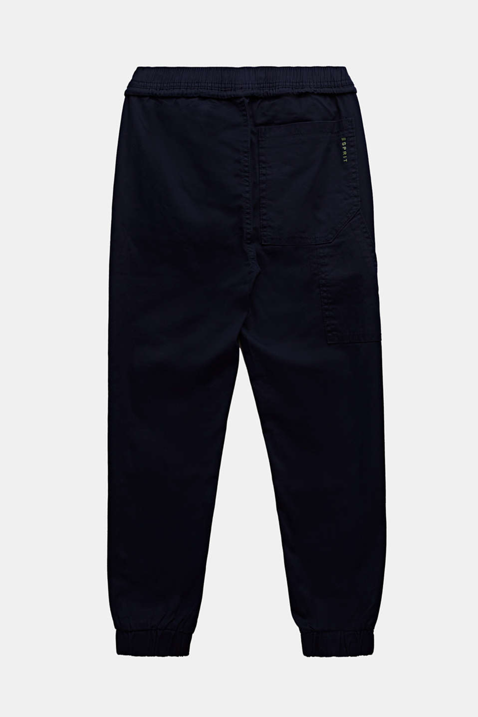 Stretch cotton tracksuit bottoms, LCMIDNIGHT BLUE, detail image number 1