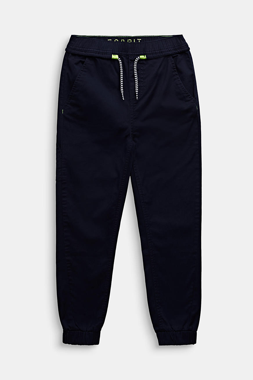 Stretch cotton tracksuit bottoms
