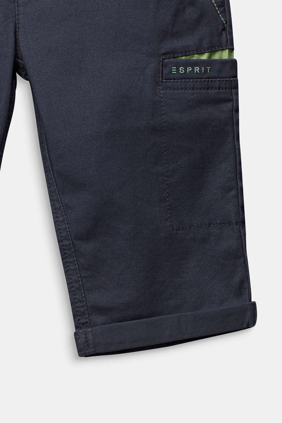 Casual cotton trousers in 7/8 length, ANTHRACITE, detail image number 1