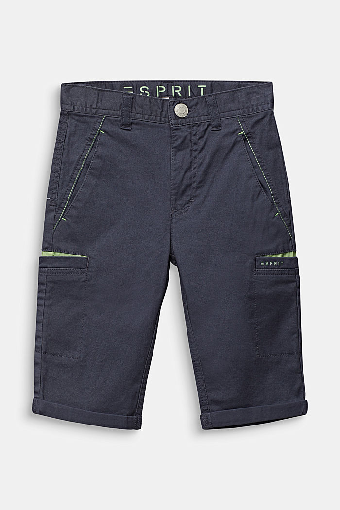 Casual cotton trousers in 7/8 length