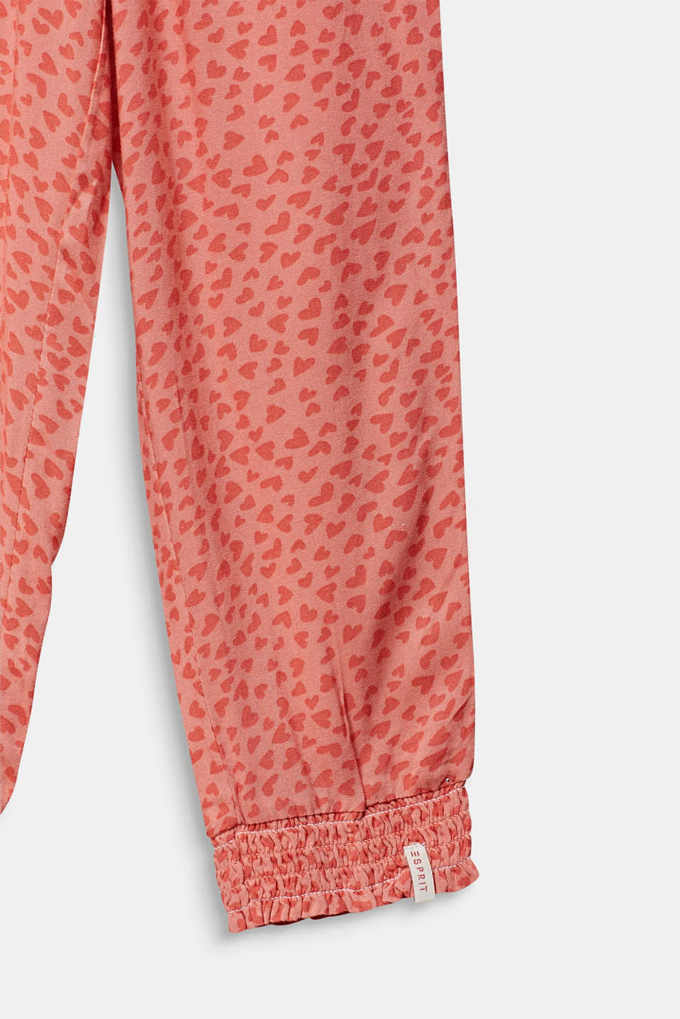 Woven trousers with multi-heart print, CORAL, detail image number 2