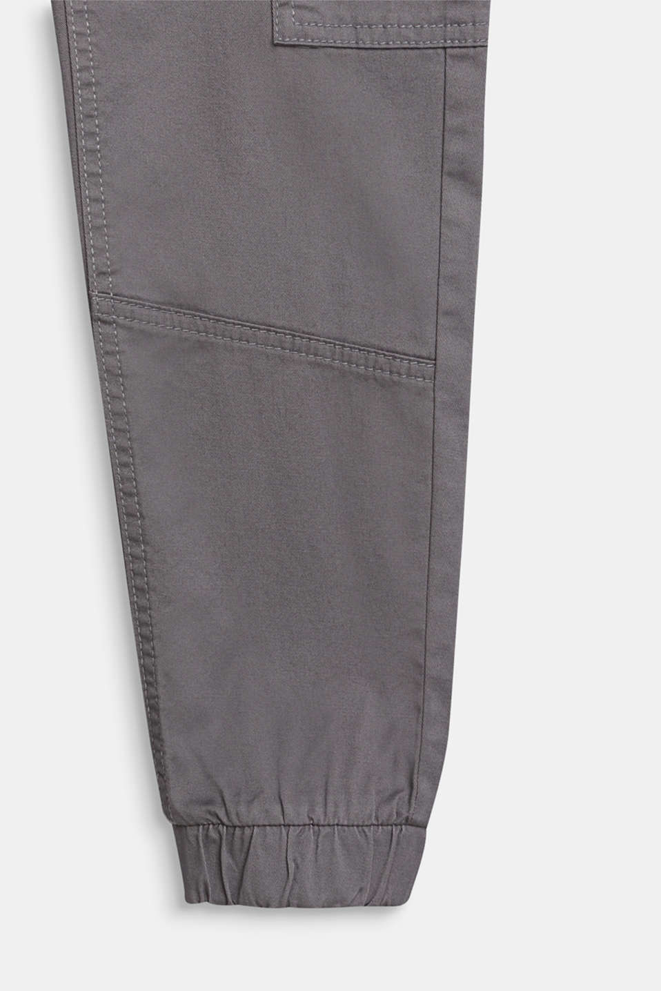 Stretch cotton cargo trousers, adjustable waistband, LCGREY, detail image number 2