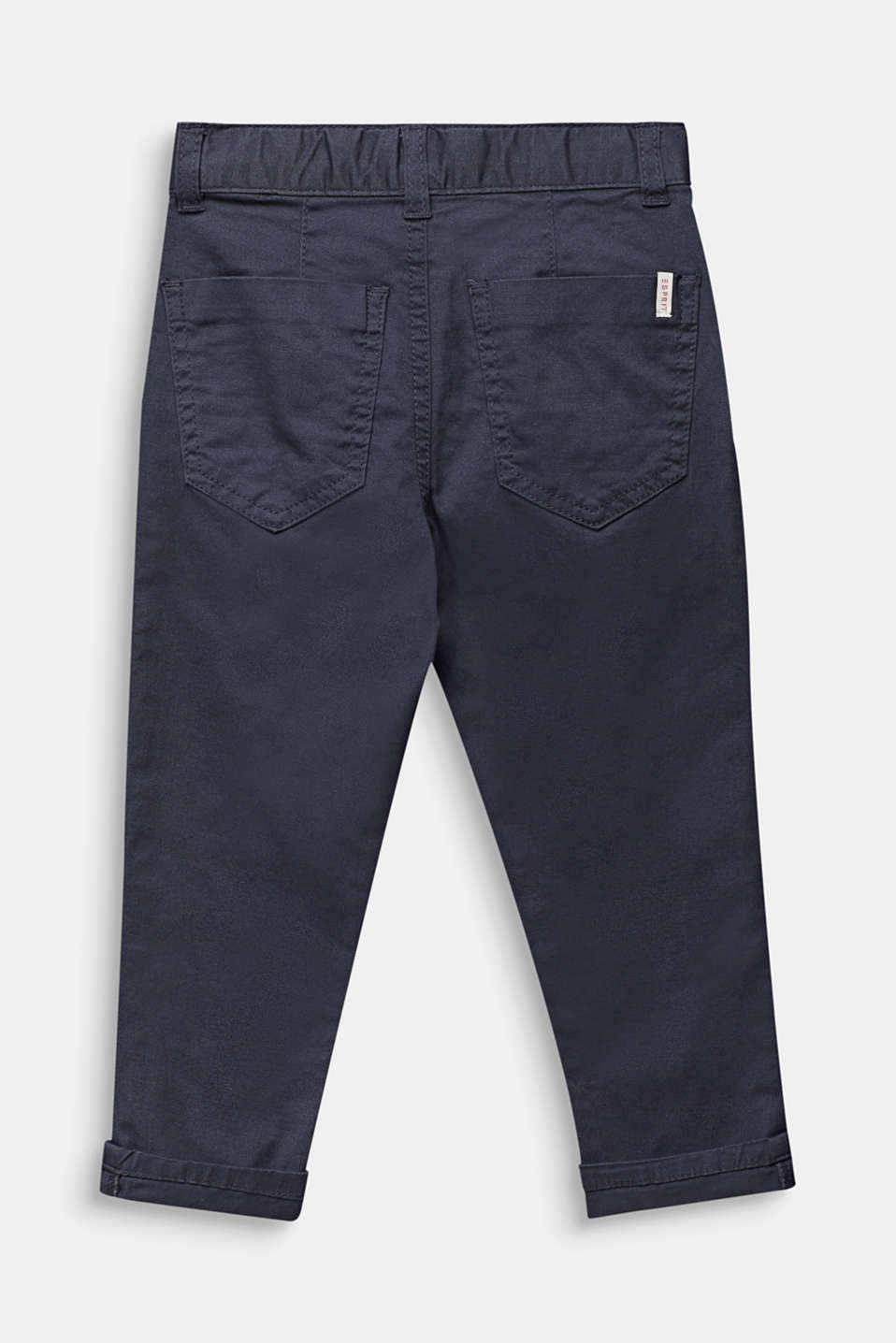 Chinos with waist pleats in stretch cotton, ANTHRACITE, detail image number 2