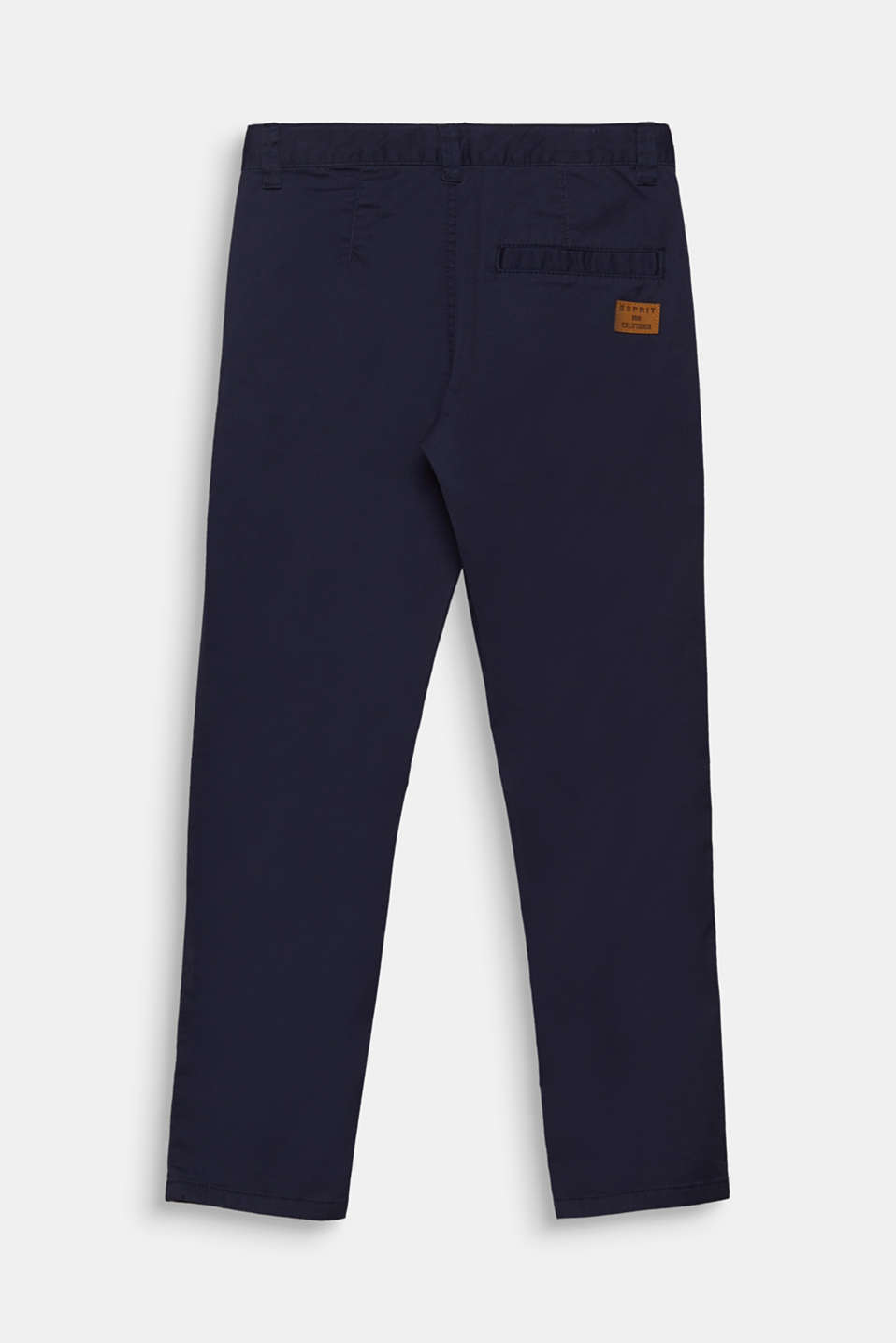 Stretch cotton trousers with an adjustable waistband, LCMIDNIGHT BLUE, detail image number 1