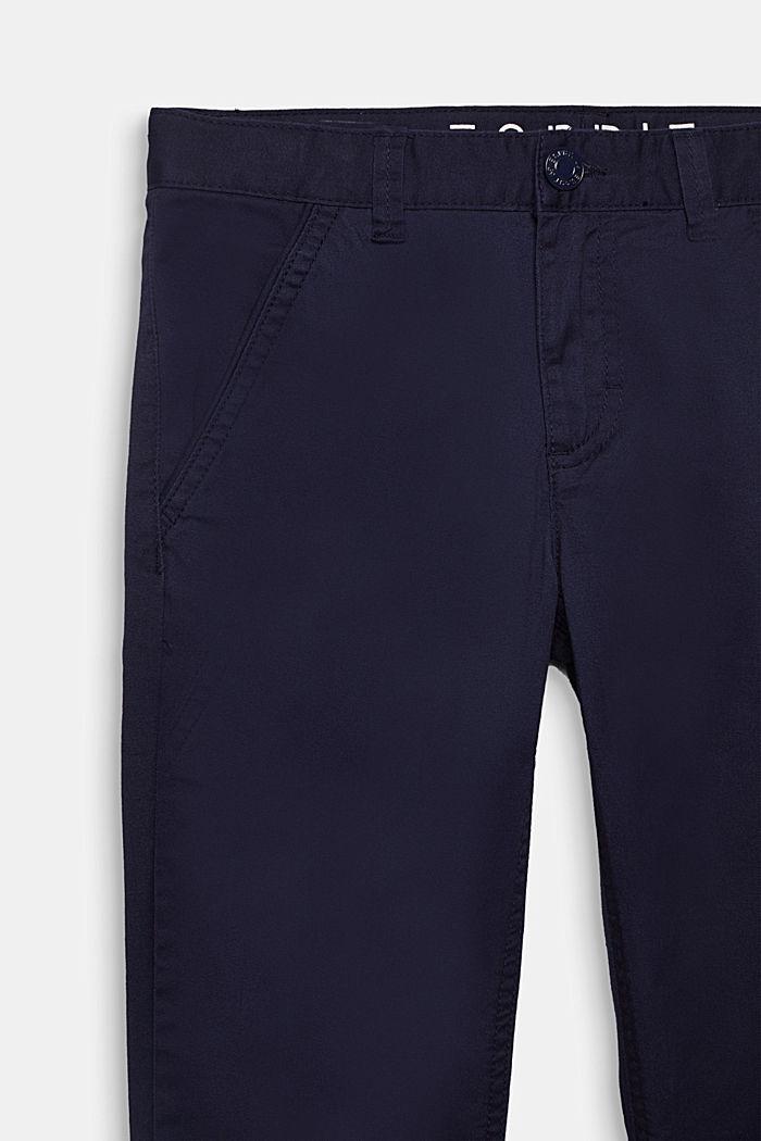 Byxa i bomullsstretch med reglerbar linning, MIDNIGHT BLUE, detail image number 2