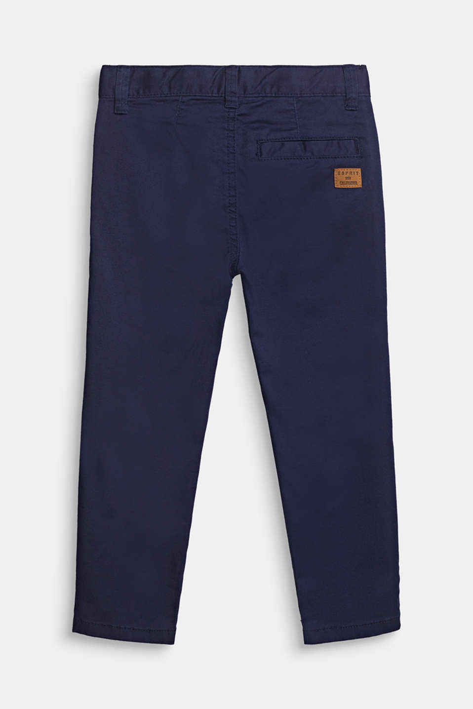 Chinos with adjustable waistband, 100% cotton, MIDNIGHT BLUE, detail image number 0